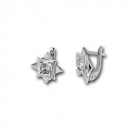 Сребърни обици с Камък 114459-Oбици