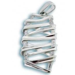 Сребърен медальон без Камък 180772-Медальони