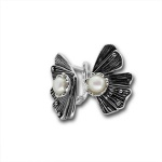 Сребрна обица с перла 115872.1-Oбици