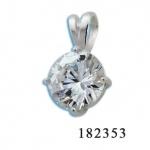 Сребърен медальон с Камък 182353-Медальони