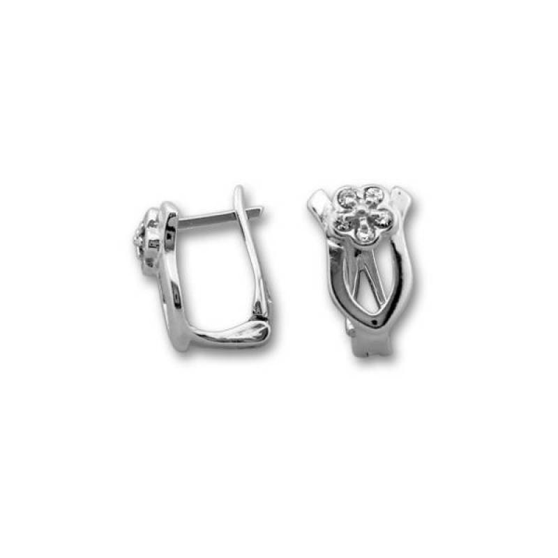 Сребърни обици с Камък 138251-Oбици