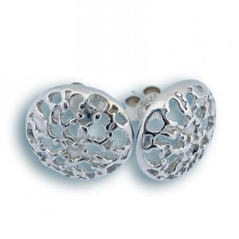 Сребърни обици без камък 132123-Oбици