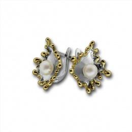 Сребрна обица с перла 115869.2-Oбици