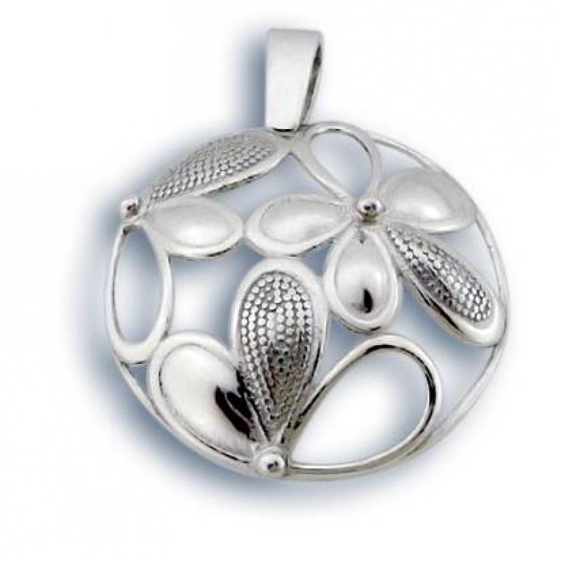 Сребърен медальон без Камък 180780-Медальони