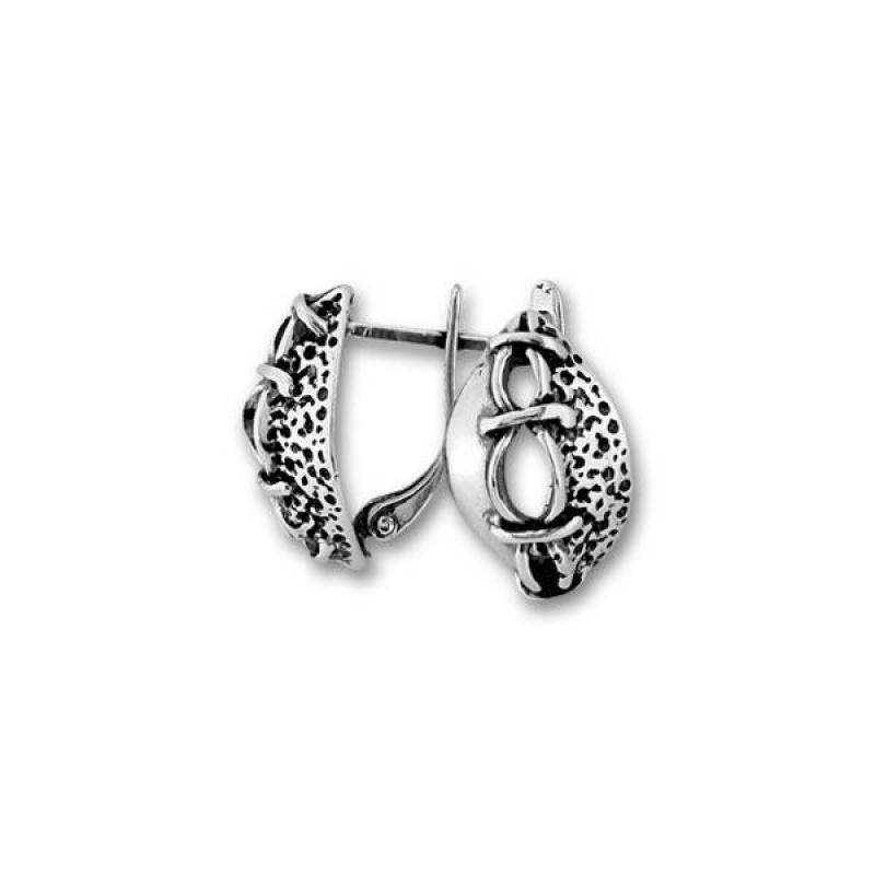 Сребърни обици без камък 133939-Oбици