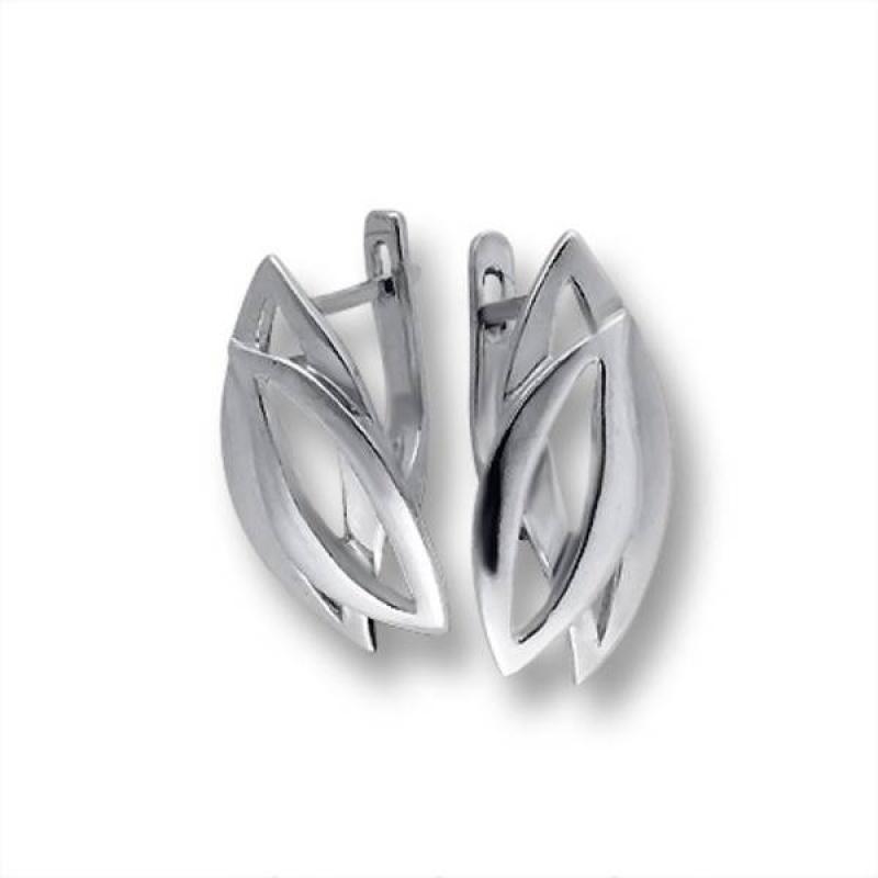 Сребърни обици без камък 133223-Oбици