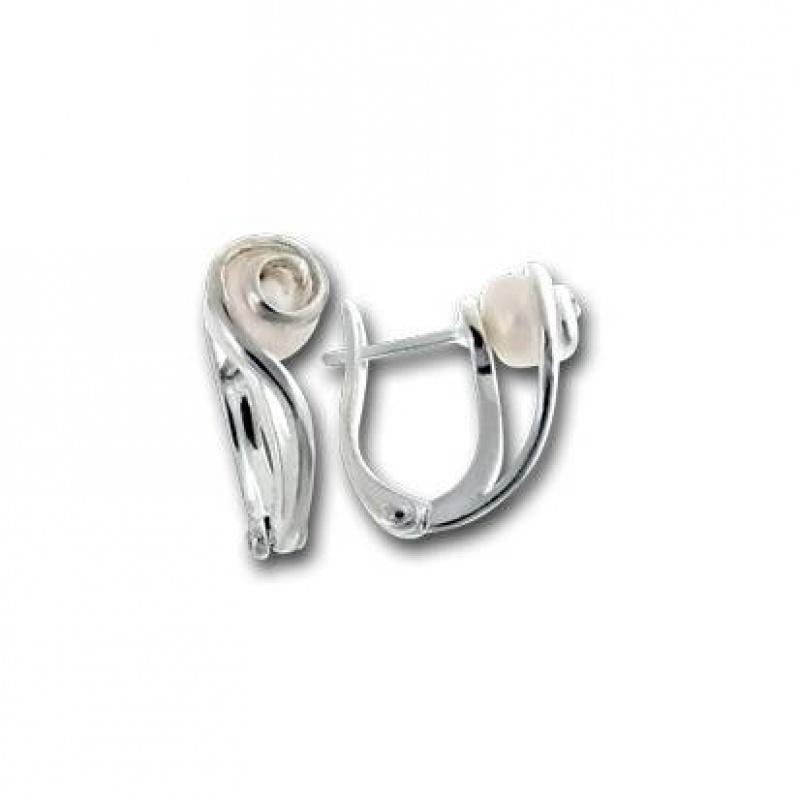 Сребрна обица с перла 115812-Oбици