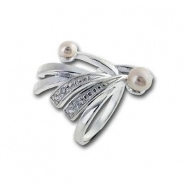 Сребърен пръстен с перла 1705818-Пръстени