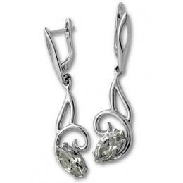 Сребърни обици с Камък 122893-Oбици