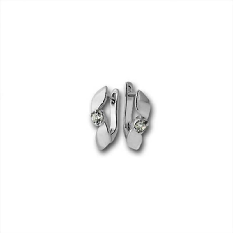 Сребърни обици с Камък 114876-Oбици
