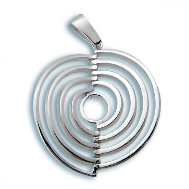 Сребърен медальон без Камък 180810-Медальони