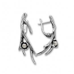 Сребрна обица с перла 115952-Oбици