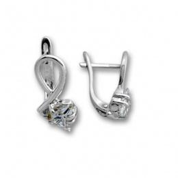 Сребърни обици с Камък 114476-Oбици