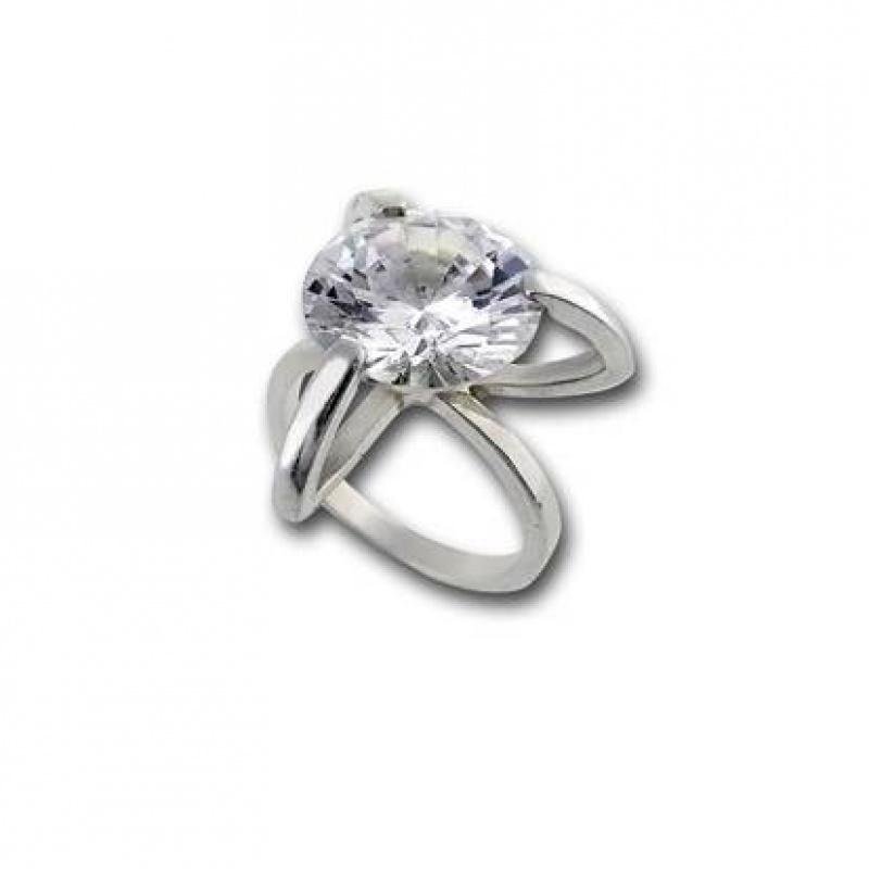 Сребърен пръстен с Камък 1595816-Пръстени