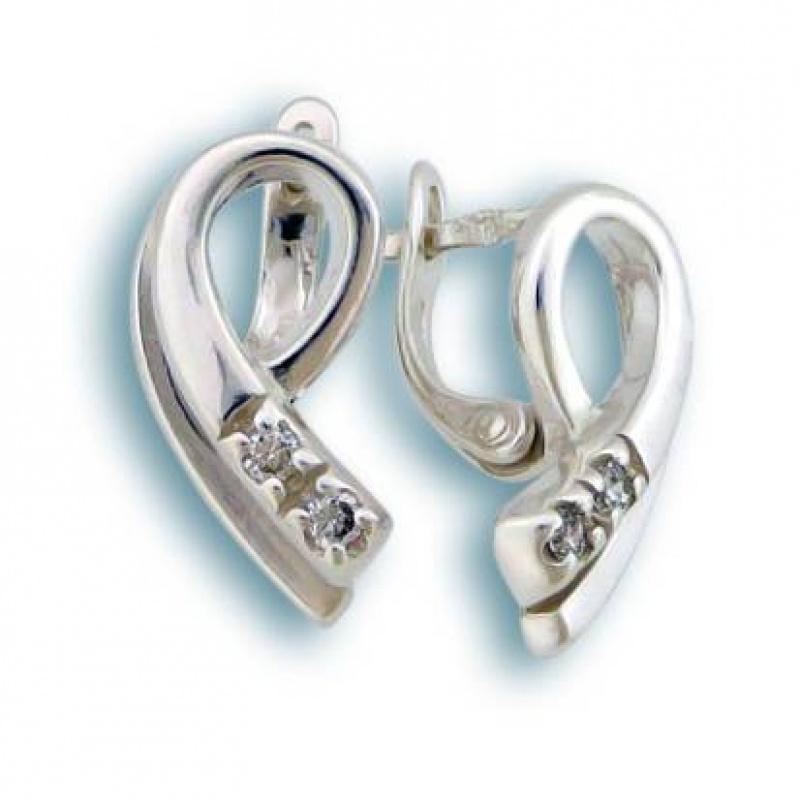 Сребърни обици с Камък 138763-Oбици