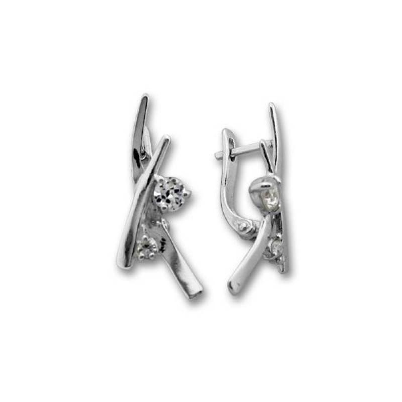 Сребърни обици с Камък 121250-Oбици