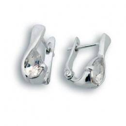 Сребърни обици с Камък 114110-Oбици