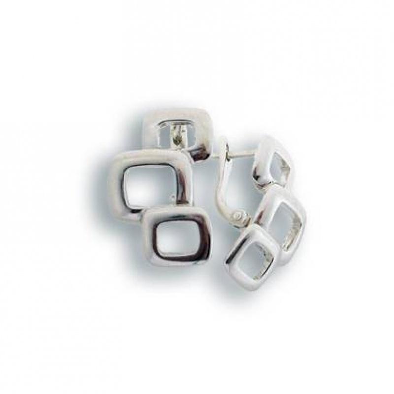Сребърни обици без камък 132735-Oбици