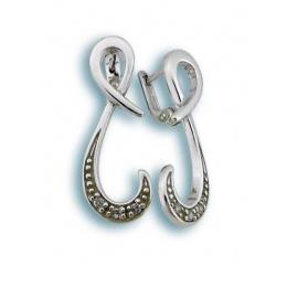 Сребърни обици с Камък 138208-Oбици