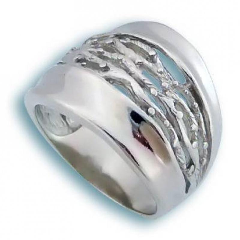 Сребърен пръстен без камък 1515773-Пръстени