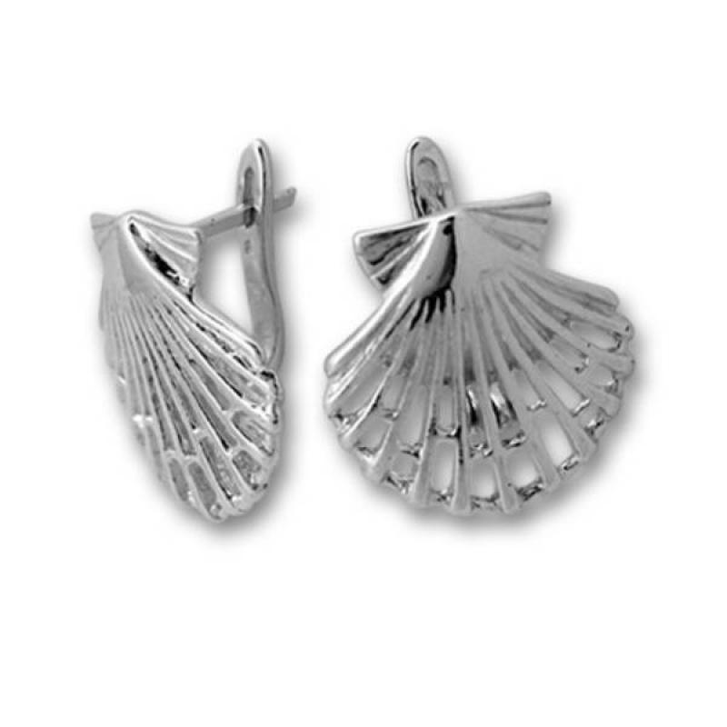 Сребърни обици без камък 133896-Oбици