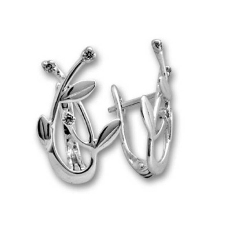 Сребърни обици с Камък 138900-Oбици