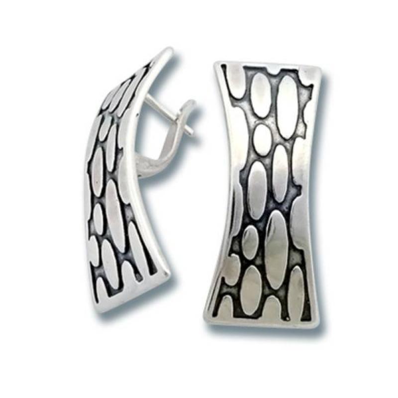 Сребърни обици без камък 136837-Oбици