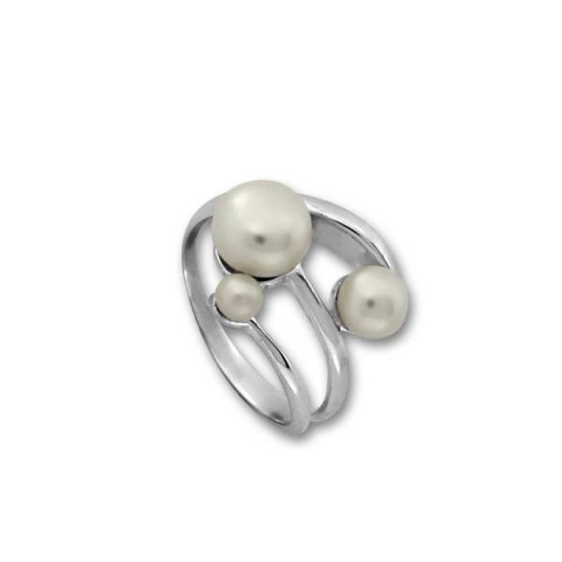 Сребрен пръстен с перла 1705239-Пръстени