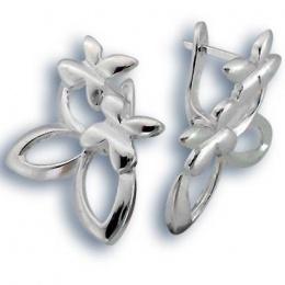 Сребърни обици без камък 136791-Oбици