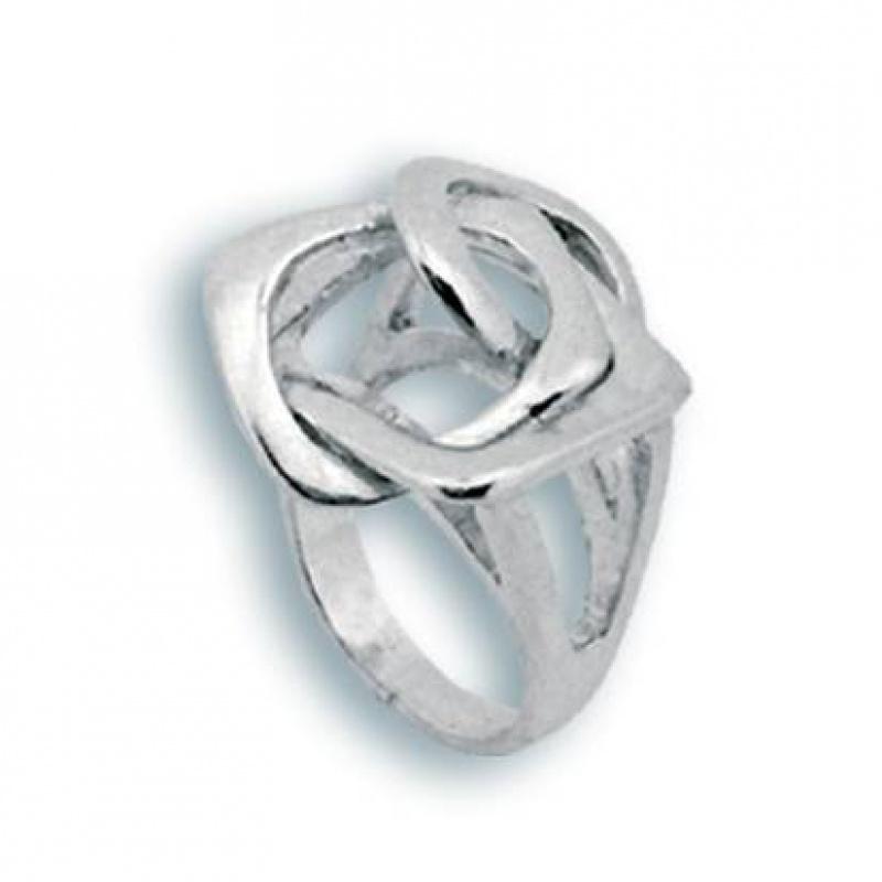 Сребърен пръстен без камък 1515053-Пръстени