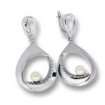 Сребрна обица с перла 115453-Oбици