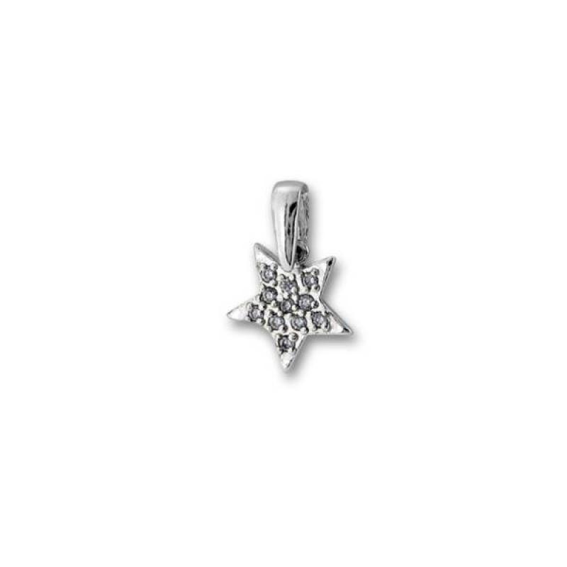 Tisha - Сребърна висулка Звезда с Цирконий  186514-Сребърни бижута