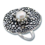 Сребрен пръстен с перла 1705840-Пръстени