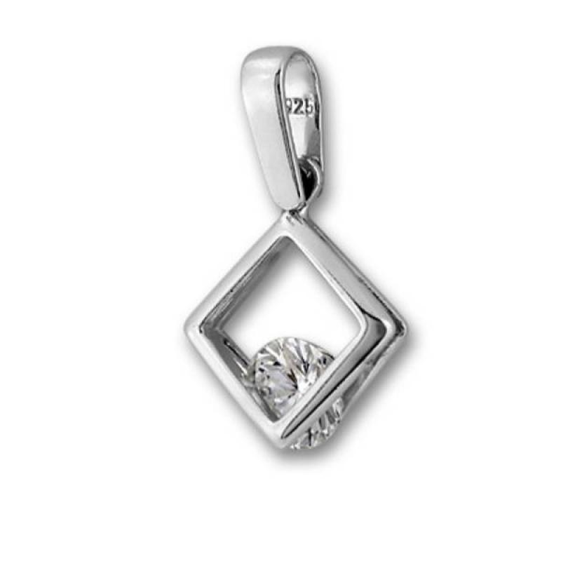 Сребърен медальон с Камък 184478-Медальони