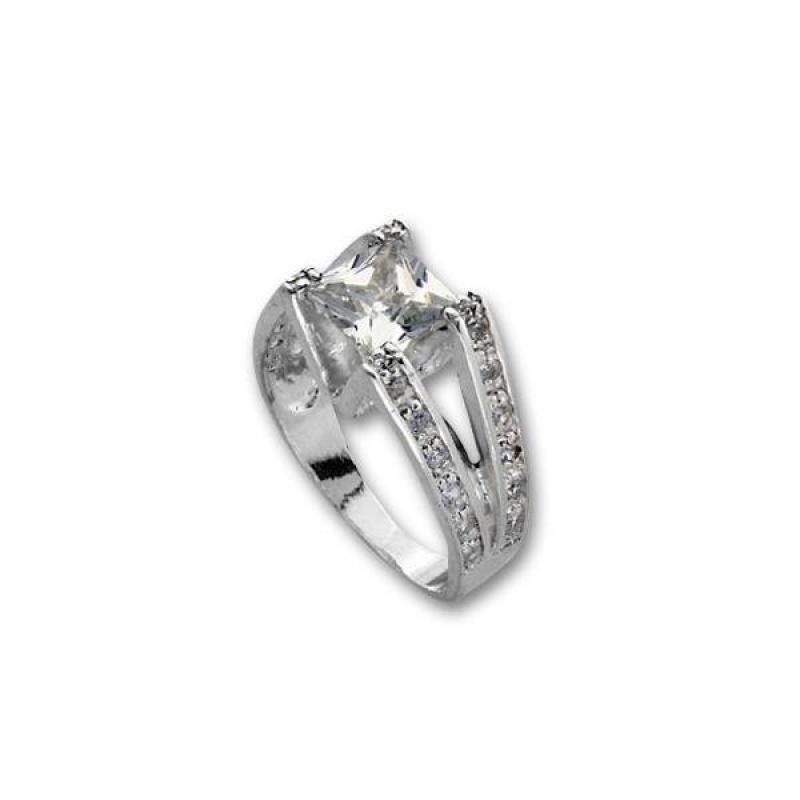 Bethany - Сребърен пръстен с Цирконий 1615231-Сребърни бижута