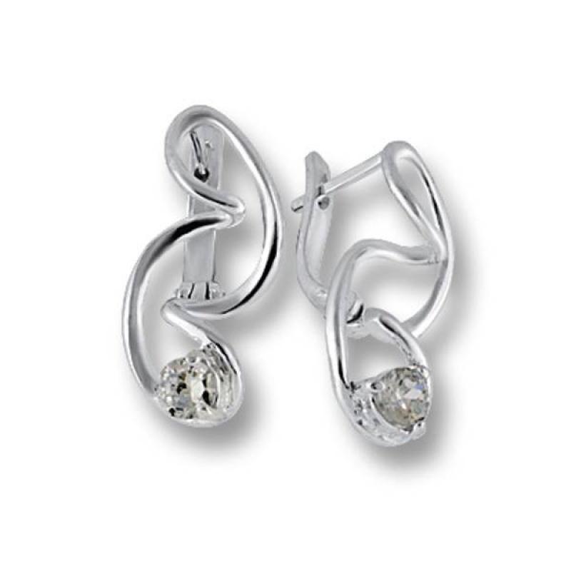 Сребърни обици с Камък 121849-Oбици