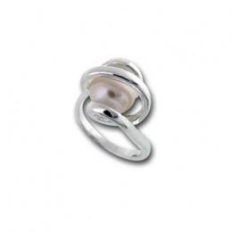 Сребрен пръстен с перла 1705817-Пръстени