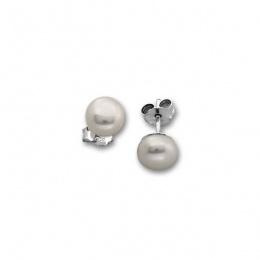 Aniya - Сребърни обеци с Перли  А 7 - 7.5 мм 115492-Обеци