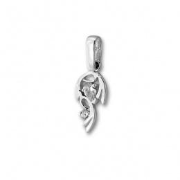 Сребърен медальон с Камък 184207-Медальони