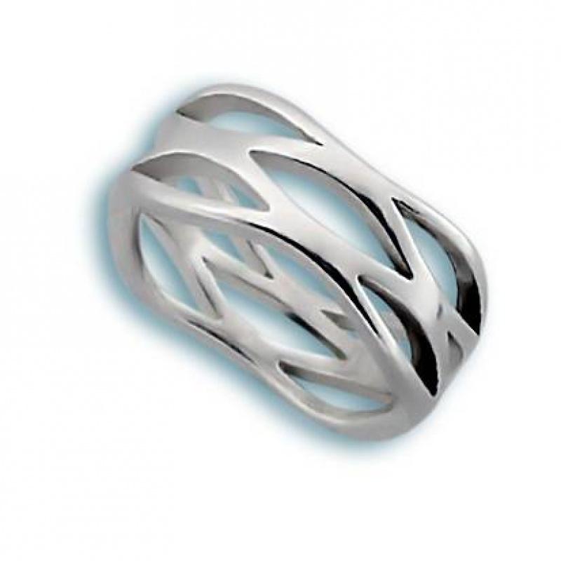 Сребърен пръстен без камък 1545190-Пръстени