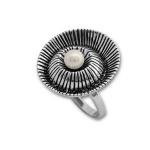 Сребърен пръстен с перла 1705899-Пръстени