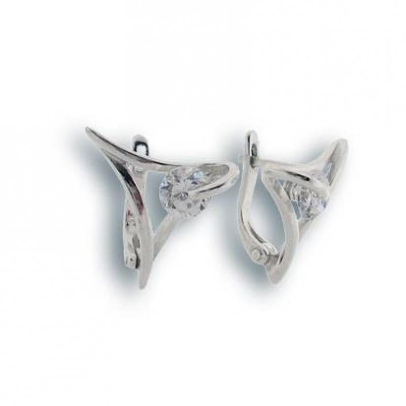 Сребърни обици с Камък 121322-Oбици