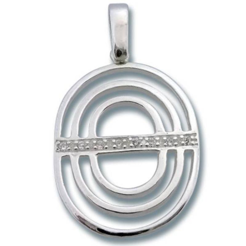 Сребърен медальон с Камък 174829-Медальони