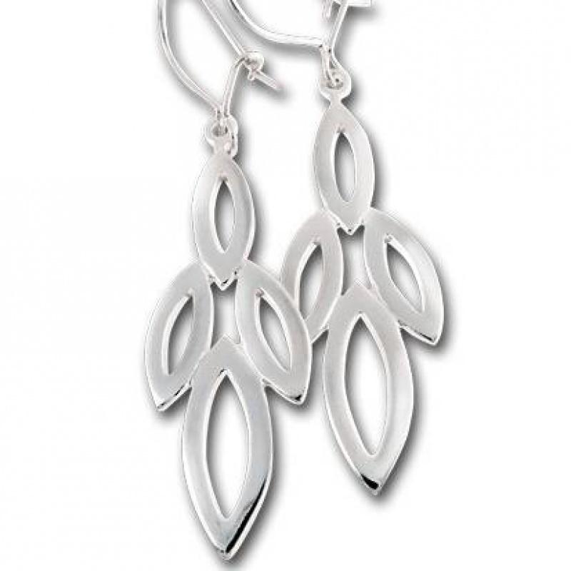 Сребърни обици без камък 132815-Oбици