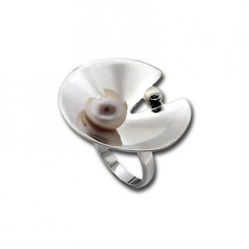 Сребърен пръстен с перла 1705827-Пръстени