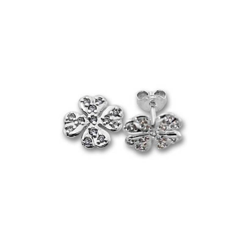 Сребърни обици с Камък 139515-Oбици