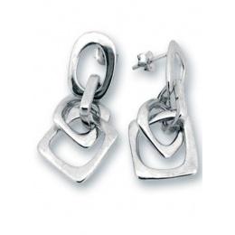 Сребърни обици без камък 131112-Oбици
