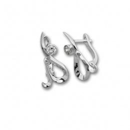 Сребърни обици с Камък 114488-Oбици