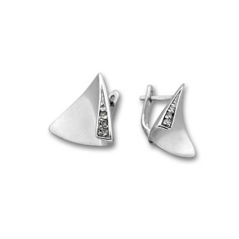 Сребърни обици с Камък 138906-Oбици