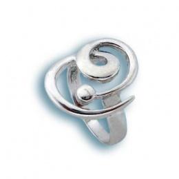 Сребърен пръстен без камък 1545625-Пръстени